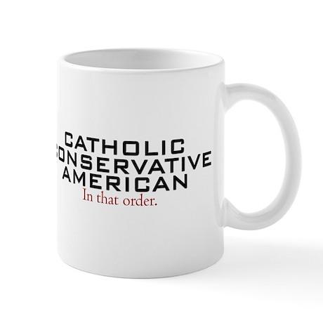 Catholic Conservative American Mug