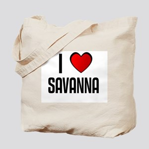 I LOVE SAVANNA Tote Bag