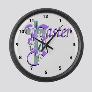 Easter Cross Large Wall Clock