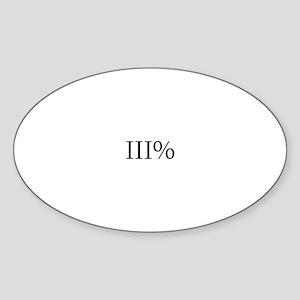 Three Percent Oval Sticker