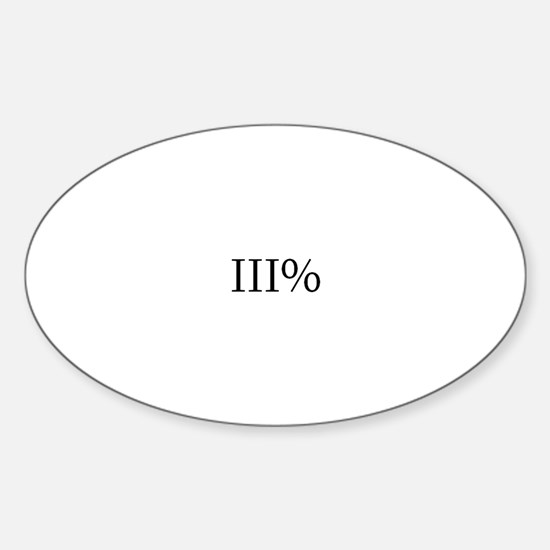 Three Percent Oval Decal
