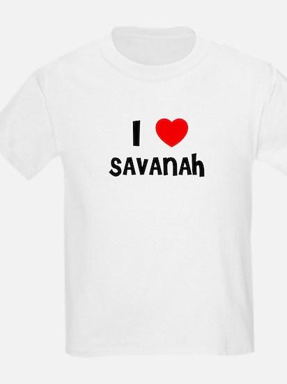 I LOVE SAVANAH Kids T-Shirt