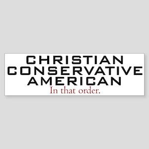 Christian Conservative American Bumper Sticker