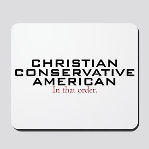 Christian Conservative American Mousepad