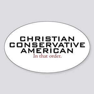 Christian Conservative American Oval Sticker