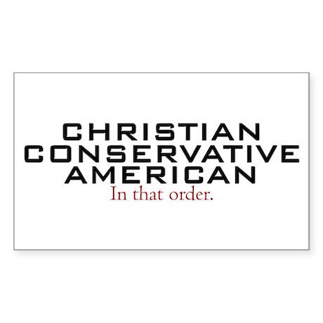 Christian Conservative American Sticker (Rectangle