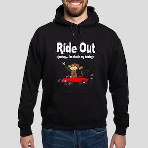 """Ride Out (partay...im shakin Hoodie (dark)"