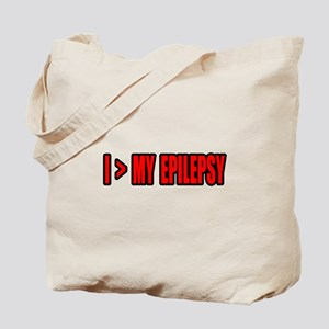 """Greater Than My Epilepsy"" Tote Bag"
