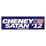 """Cheney-Satan '12"" Bumper Sticker"