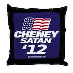"""""""Cheney-Satan '12"""" Throw Pillow"""