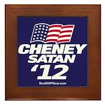 """""""Cheney-Satan '12"""" Framed Tile"""
