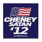 """Cheney-Satan '12"" Tile Coaster"