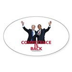"""""""Competence is Back"""" Sticker (Oval 50 pk"""