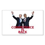 """""""Competence is Back"""" Rectangle Sticker"""
