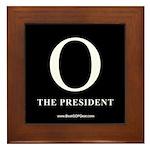 """""""O the President"""" Framed Tile"""