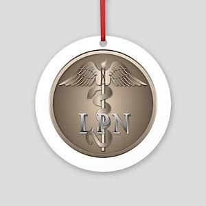 LPN Caduceus Ornament (Round)