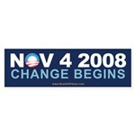 """Change Begins"" Bumper Sticker"