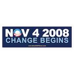 """""""Change Begins"""" Bumper Sticker"""
