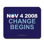 """Change Begins"" Mousepad"