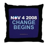 """Change Begins"" Throw Pillow"