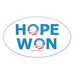 """Hope Won"" Oval Sticker"
