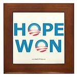 """""""Hope Won"""" Framed Tile"""