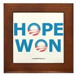 """Hope Won"" Framed Tile"