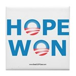 """Hope Won"" Tile Coaster"