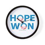 """Hope Won"" Wall Clock"
