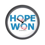 """Hope Won"" Wall Clock"