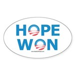 """Hope Won"" Oval Sticker (10 pk)"