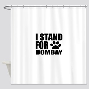 I Stand For Bombay Cat Designs Shower Curtain