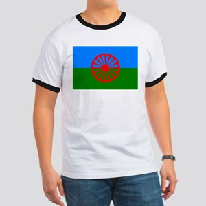 Romani Flag (Gypsies Flag) Ringer T