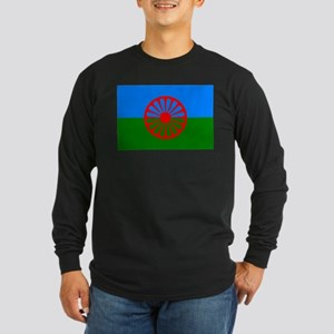 Romani Flag (Gypsies Flag) Long Sleeve Dark T-Shir