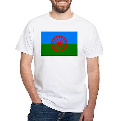Romani Flag (Gypsies Flag) White T-Shirt