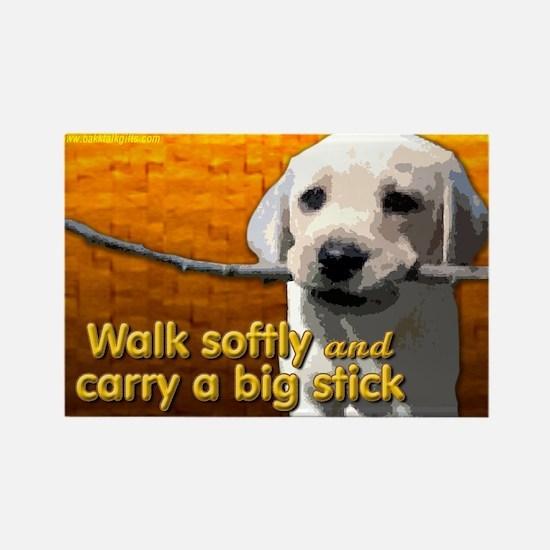 Walk Softly... Rectangle Magnet