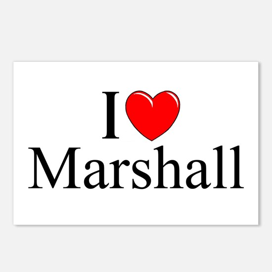 """""""I Love (Heart) Marshall"""" Postcards (Package of 8)"""