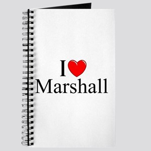 """I Love (Heart) Marshall"" Journal"