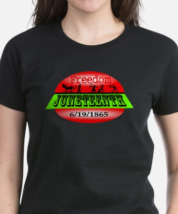 Juneteenth Logo 2 Women's Dark T-Shirt