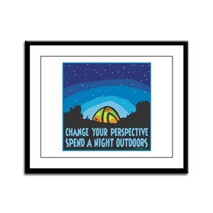 Tent Camping Framed Panel Print