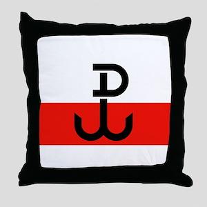 Polish Resistance Flag Throw Pillow
