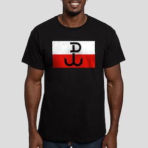 Polish Resistance Flag Men's Fitted T-Shirt (dark)