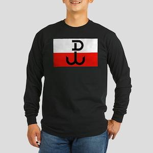 Polish Resistance Flag Long Sleeve Dark T-Shirt