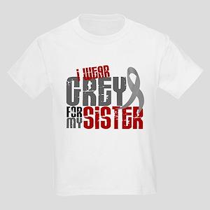 I Wear Grey For My Sister 6 Kids Light T-Shirt
