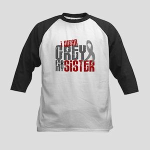 I Wear Grey For My Sister 6 Kids Baseball Jersey