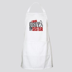 I Wear Grey For My Sister 6 BBQ Apron