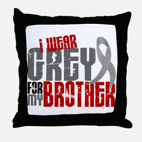 I Wear Grey For My Brother 6 Throw Pillow