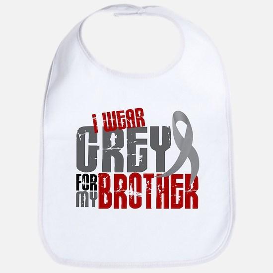 I Wear Grey For My Brother 6 Bib