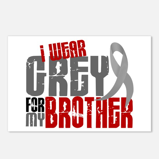 I Wear Grey For My Brother 6 Postcards (Package of