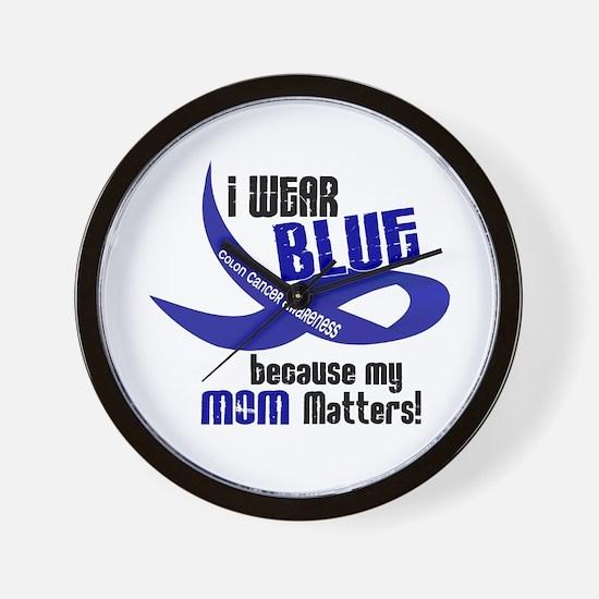 I Wear Blue For My Mom 33 CC Wall Clock
